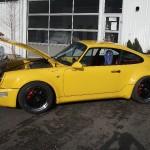 Porsche nach der Lackierung