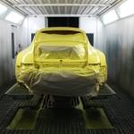 Vorbereitung für die Lackierung des Porsche